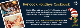Hancock Holidays Cookbook
