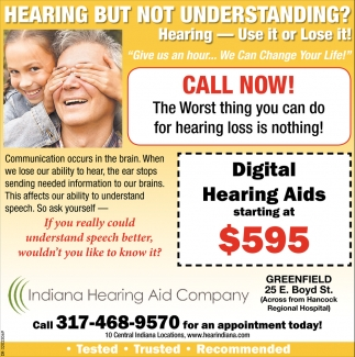 Hearing But Not Understanding?