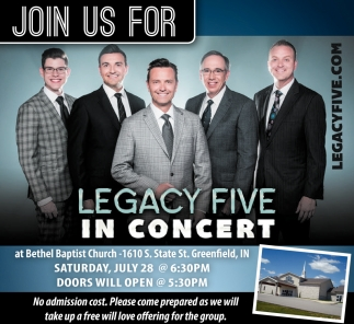 Legacy Five In Concert