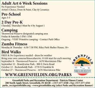 Adult Art 6 Week Sessions