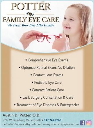 We Treat Your Eyes Like Family