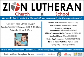 We Would Like To Invite The Hancock County Community To These Great Events!