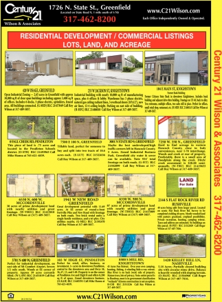 Residential Development / Commercial Listings