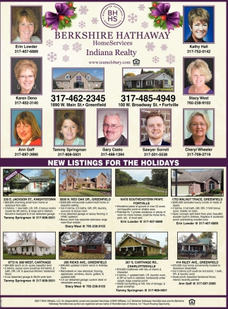 New Listings For The Holiday