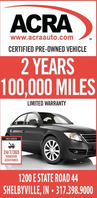 2 Years 100,000 Miles