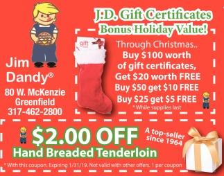 Hand Breaded Tenderloin
