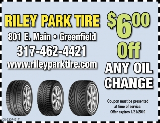$6.00 Off Any Oil Change