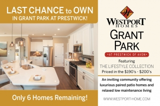 Last Chance To Own In Grant Park At Prestwick!