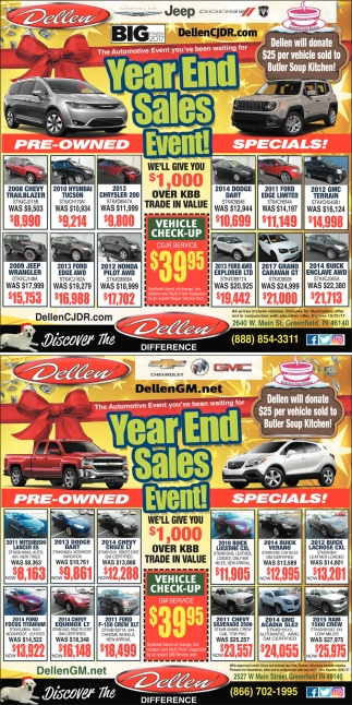 Year End Sales Event!