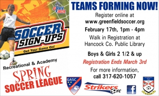 Teams Forming Now!