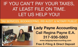 Tax Services, Bookkeeping, IRS Audit & Notary Public.