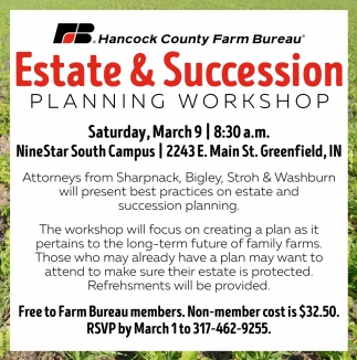 Estate & Succession Planning Workshop