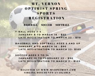 Baseball - Soccer - Softball