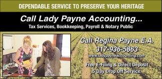 Tax Services, Bookkeeping, Payroll & Notary Public.