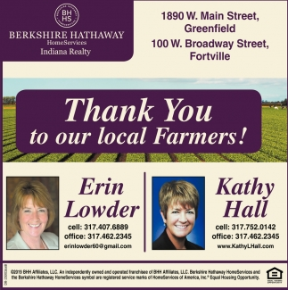 Thank You To Our Local Farmers!