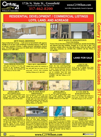 Residential Development/Comercial Listings