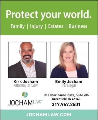 Family. Injury. Estates. Business.