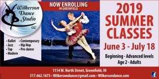2019 Summer Classes