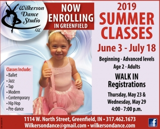 2019 Summer Classes