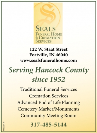 Serving Hancock County Since 1952