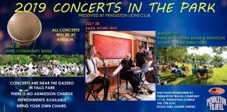 2019 Concerts In The Park
