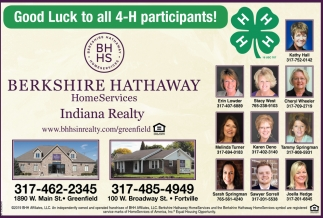Good Luck To All 4-H Participants!