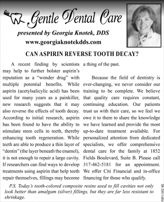 Can Aspirin Reverse Tooth Decay?
