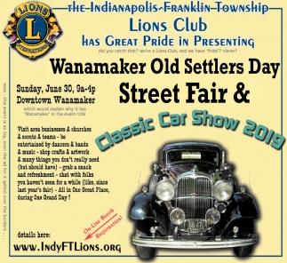 Wanamaker Old Settler's Day Street Fair  & Classic Car Show 2019