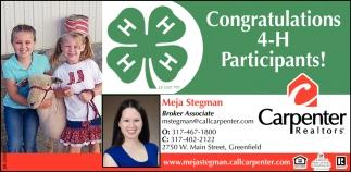 Congratulations 4-H Participants!