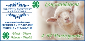 Congratulations 4-H Participants!