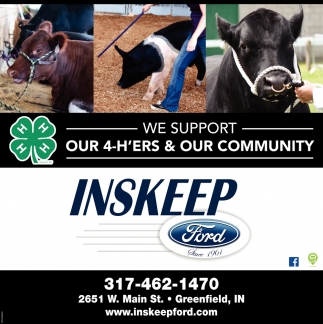 We Support Our 4-H'ers & Our Community