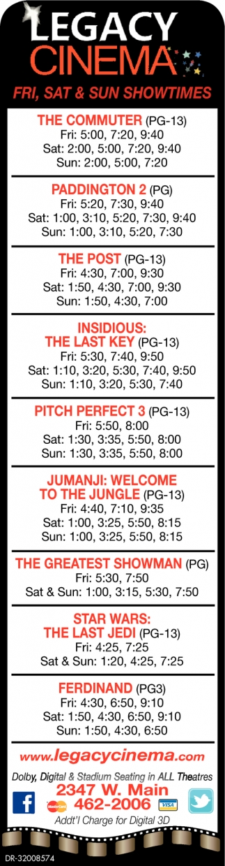 Fri, Sat And Sun Showtimes