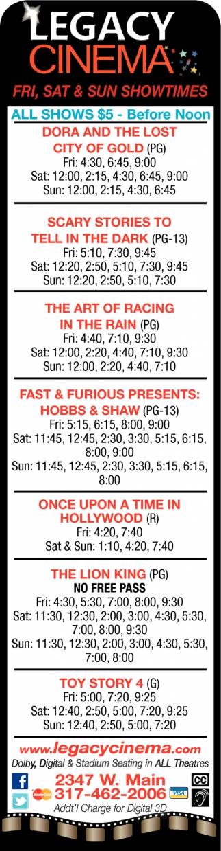 Fri, Sat & Sun Showtimes