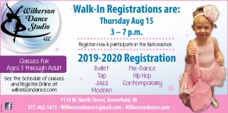Walk-In Registration Are Thursday Aug 15