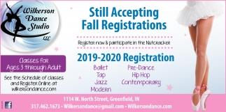 Walk-In Registration Are Thursday Aug 15