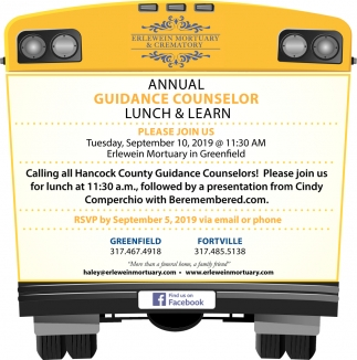 Annual Guidance Counselor Lunch & Learn
