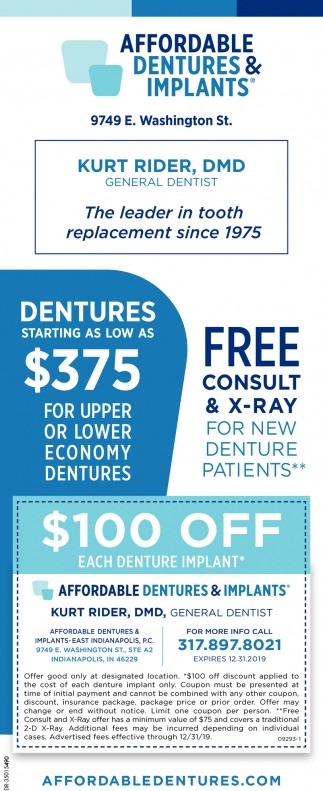 Free Consult & X-Ray For New Denture Patients