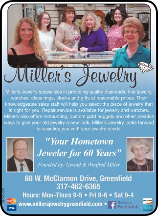 Your Hometown Jeweler For 60 Years
