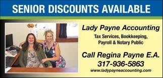 Senior Discounts Available