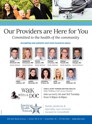 Our Providers Are Here For You