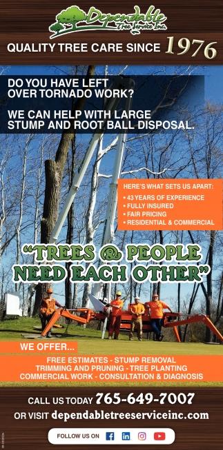 Quality Tree Care Since 1976