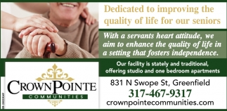 Dedicated To Improving The Quality Of Life For Our Seniors