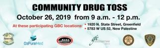 Community Drug Toss
