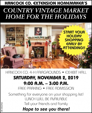 Country Vintage Market Home For The Holidays