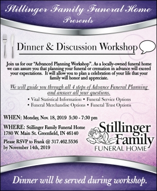 Dinner & Discussion Workshop