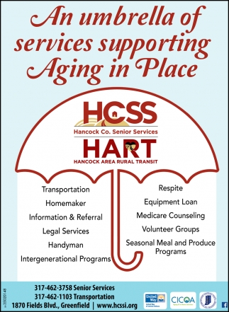 An Umbrella Of Services Supporting Aging In Place