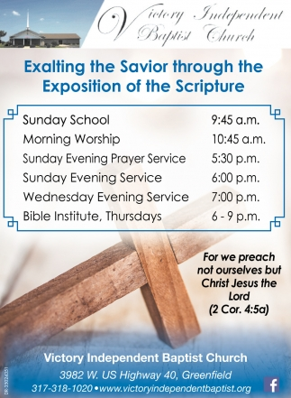 Exalting The Savior Through The Exposition Of The Scripture