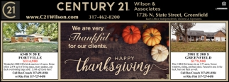 We Are Very Thankful For Our Clients.