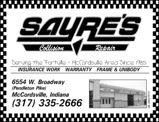 Serving The Forville - McCordsville Area Since 1985