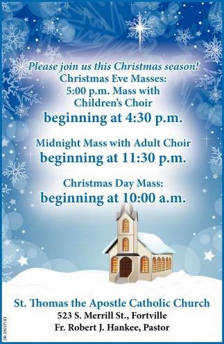 Please Join Us This Christmas Season!